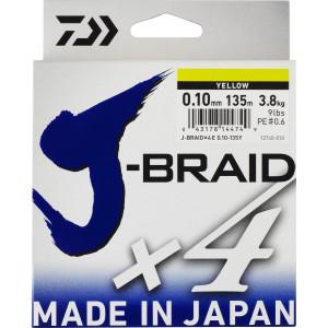 Tresse Daiwa J-Braid X 4 Verte 135m