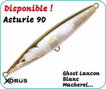 disponible, le leurre de surface asturie 90 ghost lançon