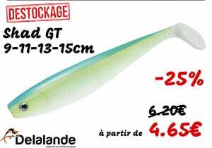 promo sur le shad GT Delalande