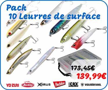 pack de 10 leurres de surface