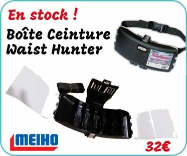 en stock, boîte ceinture Meiho Waist Hunter
